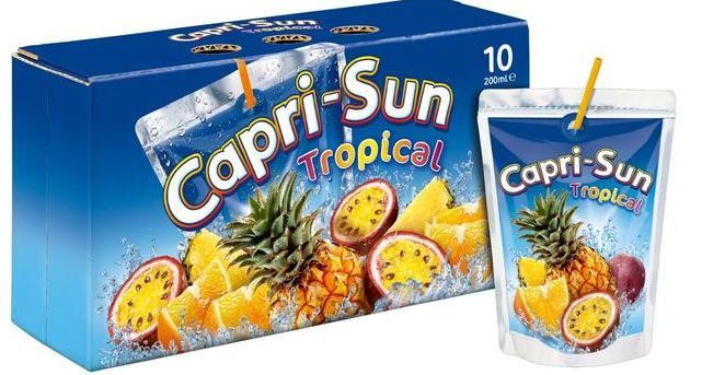capri sun, Top 10 Best Packaged Fruit Juice Brands in India 2017