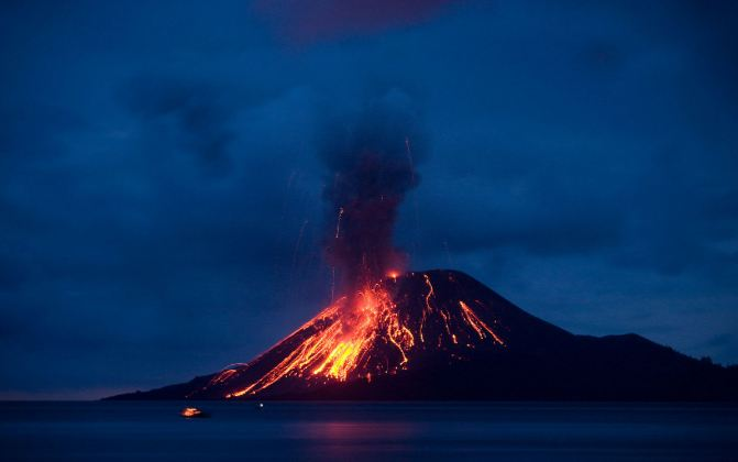 Krakatoa Top 10 Most Popular Amazing Volcanoes 2017