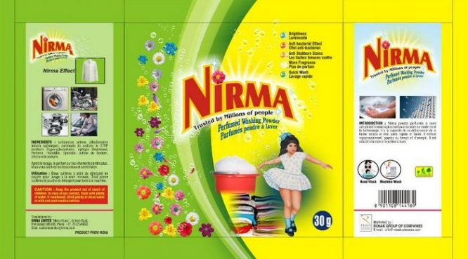 Nirma, Best selling Detergent Brands in India 2017