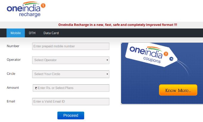 oneindia recharge, Top 10 Best Mobile Recharge Sites in The World 2018