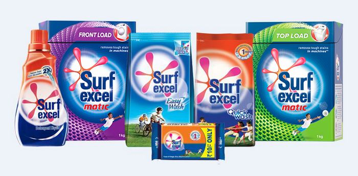 Surf Excel, India's top 10 Detergent Brands 2019