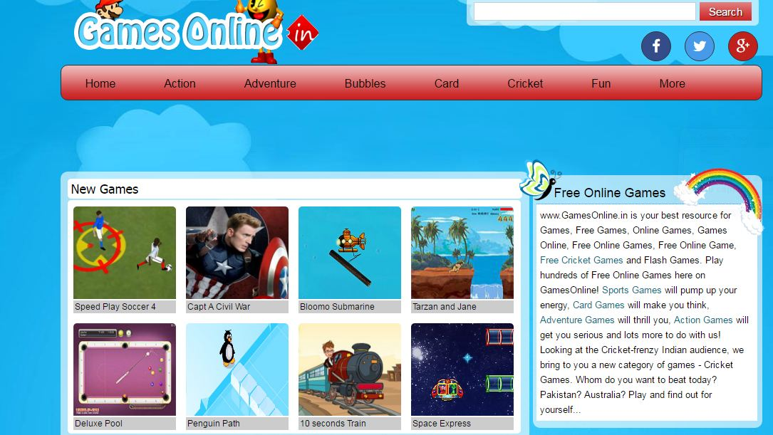 GAMESONLINE Top Popular Online Gaming Sites in India 2018