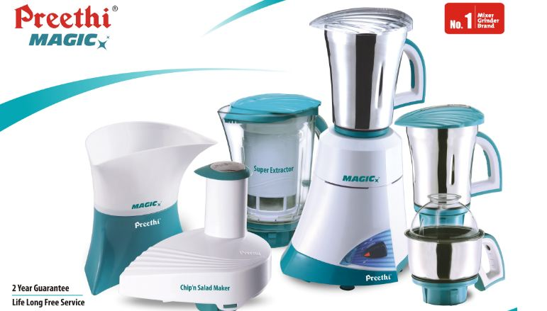 PREETHI Top 10 Most Popular Mixer Grinder Brands in India