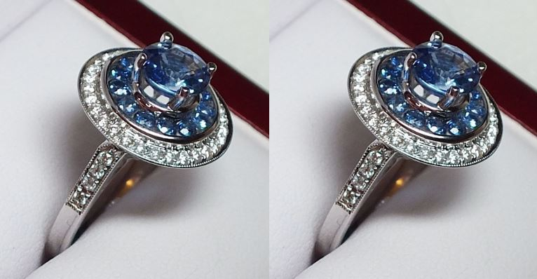18 carats blue sapphire ring Top 10 Most Beautiful Engagement Rings in The World 2017