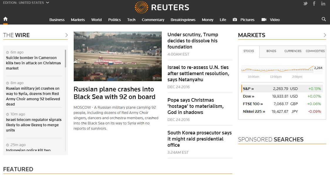Reuters Top Most Best Media News Websites 2019