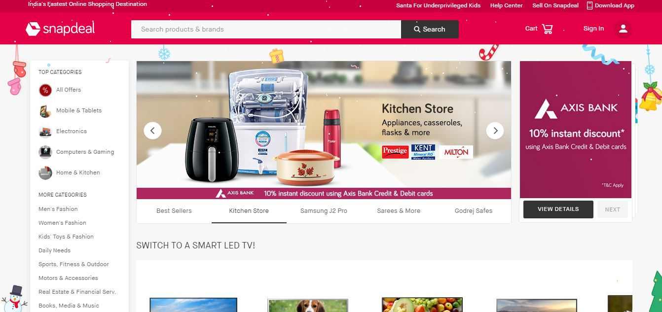 snapdeal-top-10-most-popular-best-electronics-websites