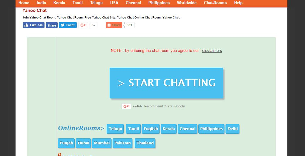 Chat Room List Yahoo