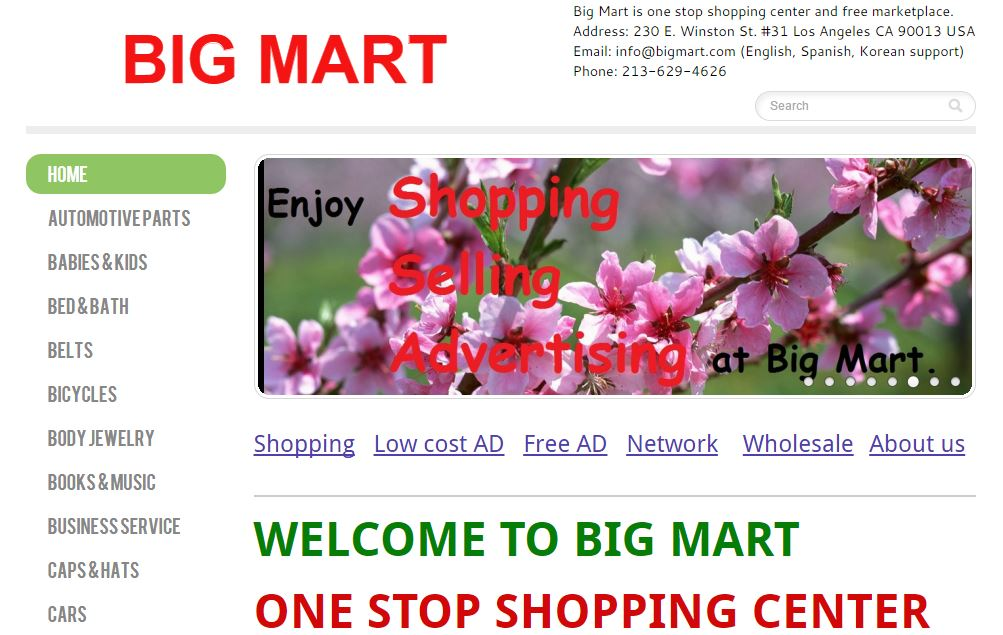 Big Mart Top Most Famous Online Grocery Stores of India 2018