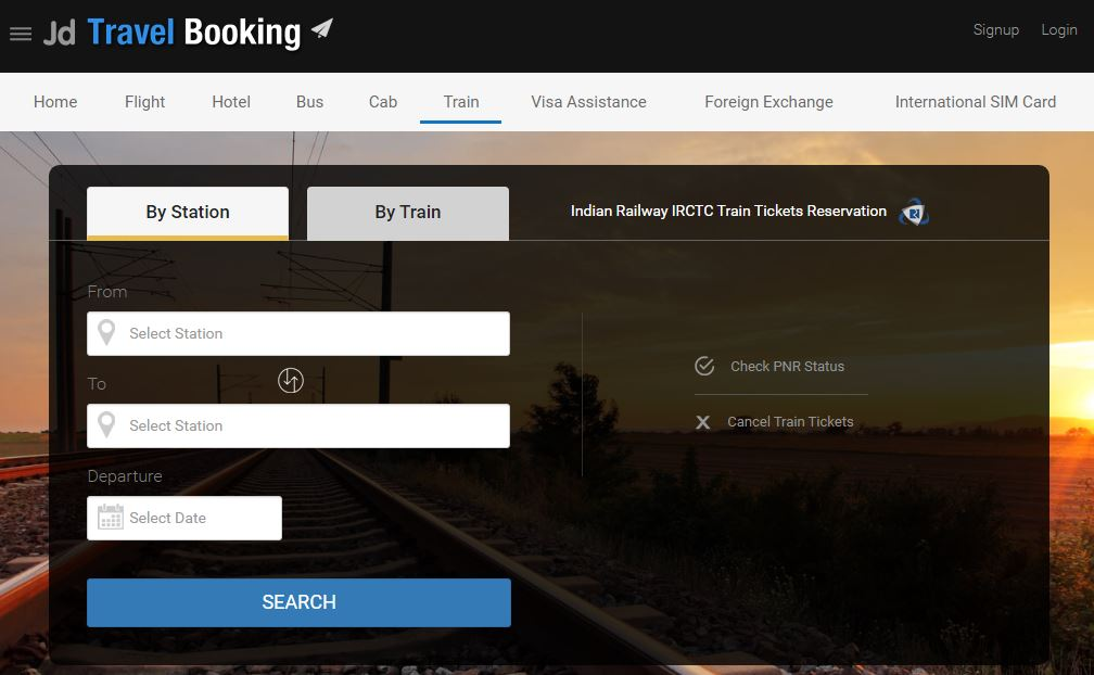 JD Travel booking Top Famous Best Online Train Booking Websites 2019