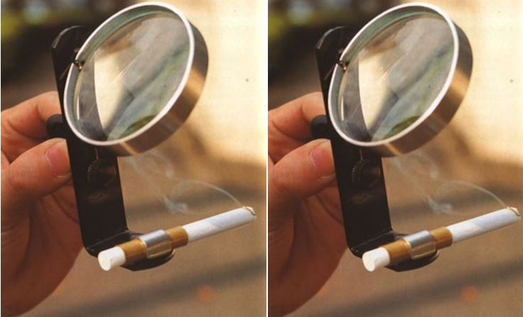 Magnifying Glass with Stand Cigarette Lighter Top Popular Strangest Japanese Inventions 2019