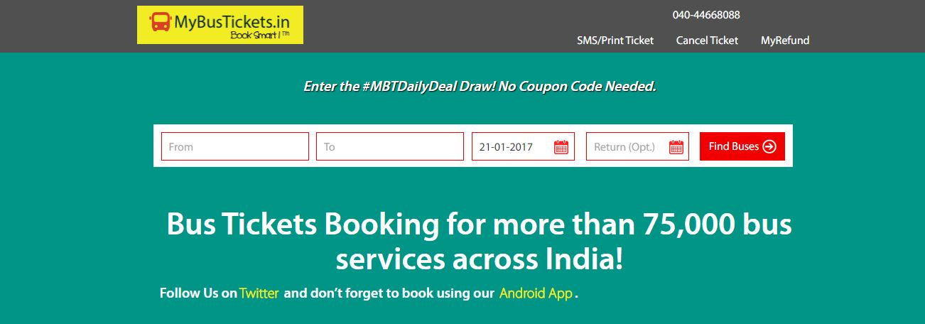 MyBusTickets Top 10 Best Online Bus Ticket Booking Websites in India