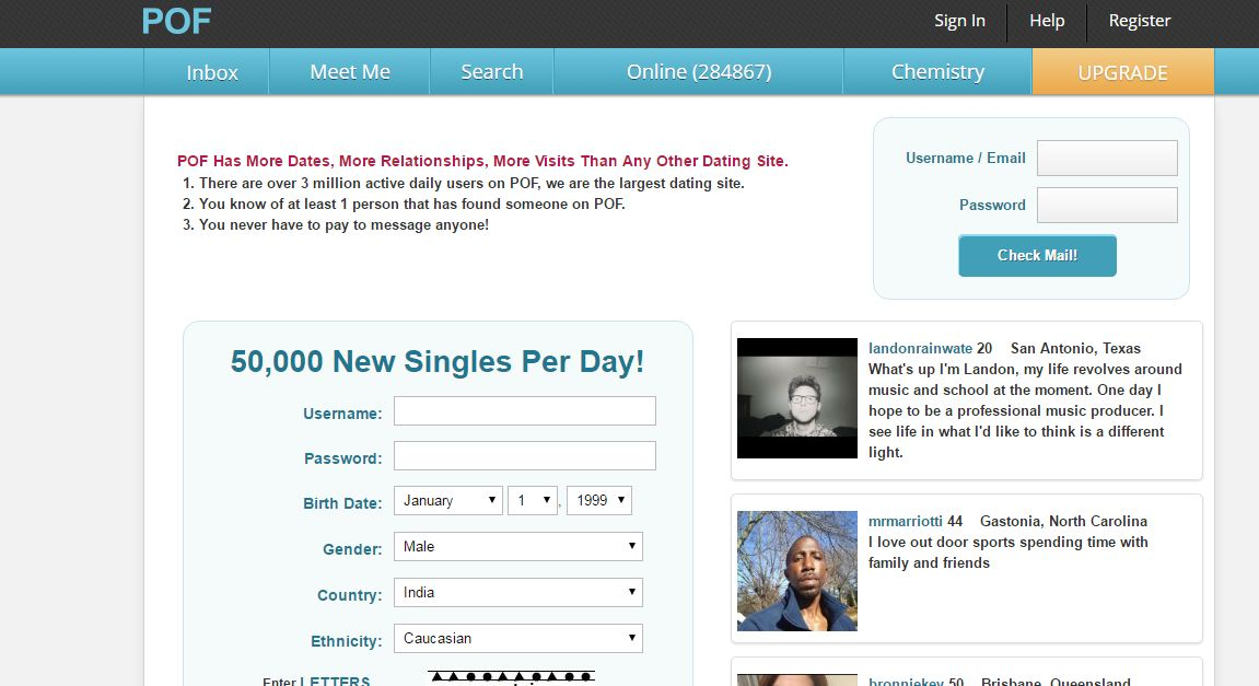 Free dating site like pof