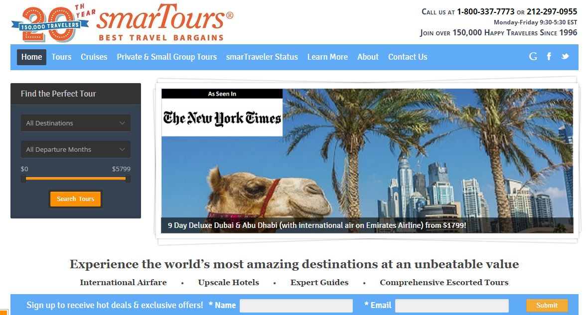 SmarTours Top Popular Travel Agencies in The World 2019