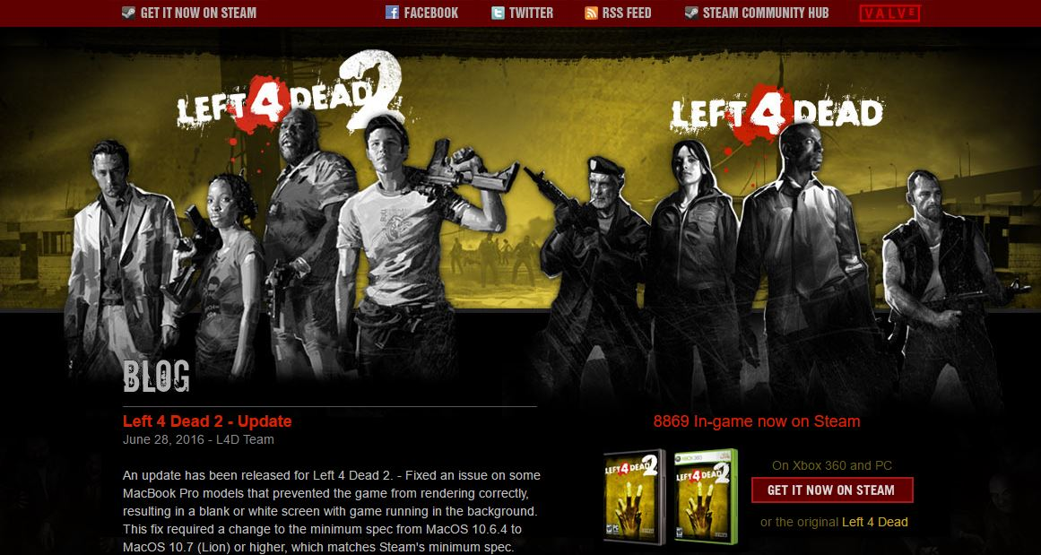 left 4 dead Top Most Best Zombie Games Websites 2019