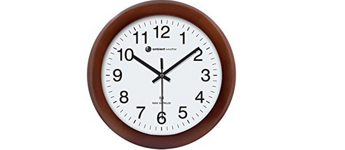 Ambient Weather RC-1250CH Top Best Selling Atomic Wall Clocks in 2017