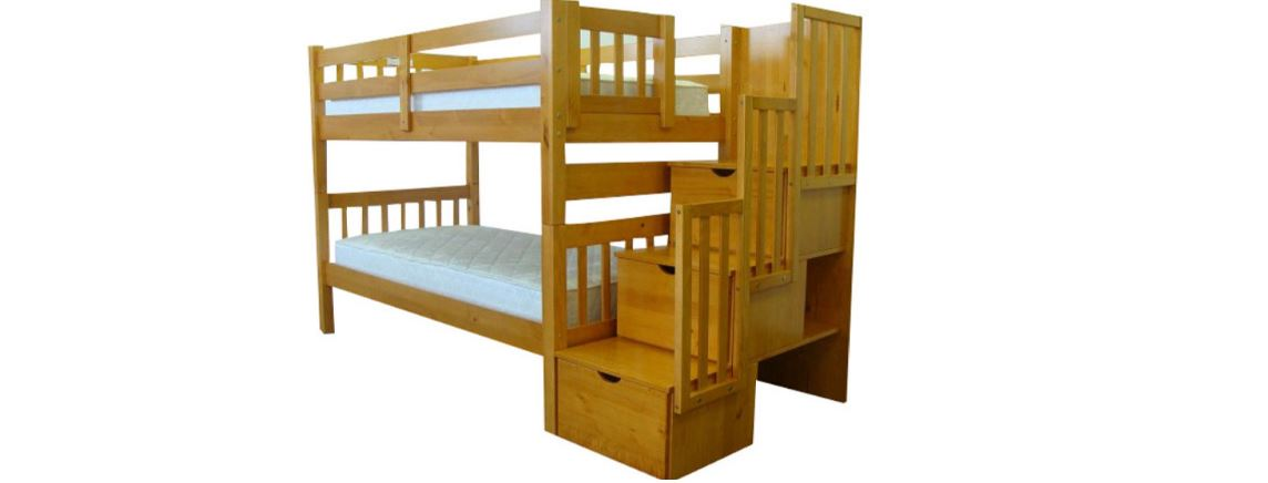 Bedz King Twin over Twin Stairway Bunk Bed Top 10 Best Selling Cheap Bunk Beds 2017