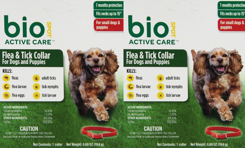 BioSpot Tick and Flea Active Care Collar Top Famous Selling Flea Collars for Dogs 2019