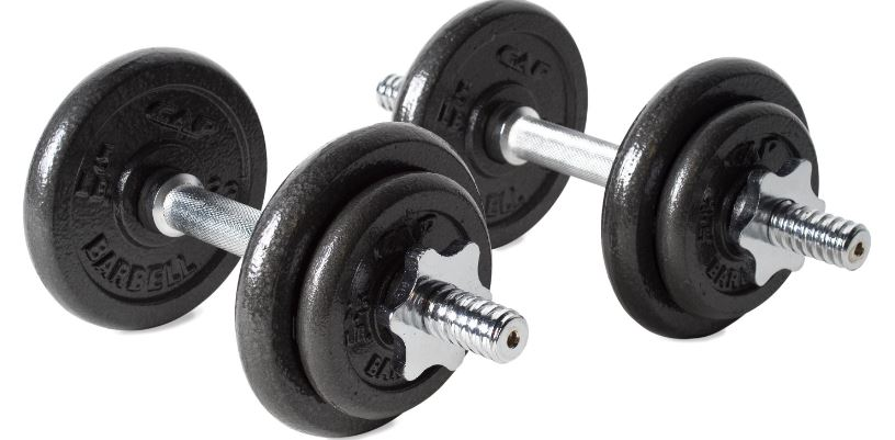 CAP Barbell 40-pound Adjustable Dumbbells Set with Case Top Most Famous Selling Adjustable Dumbbells 2018
