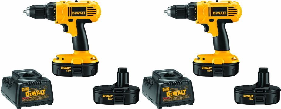 DEWALT DC970K-2 18-Volt Compact Drill Driver Kit Top Popular Selling Cordless Drills 2018