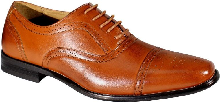 Delli Aldo Men's Wing Tip Lace Up Leather Lining Oxford Dress Shoes