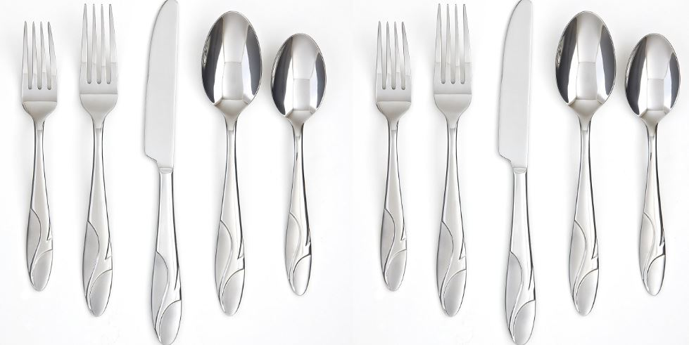Farberware Cayenne Satin 20-piece flatware set Top Most Popular Selling Flatwares 2018