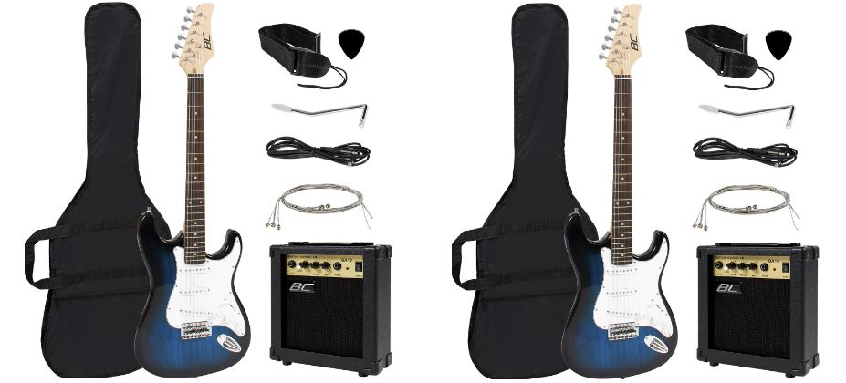 full-size-blue-electric-guitar-with-amp-case-and-accessories-pack-beginner-starter-package-top-most-popular-selling-electric-guitars-2018