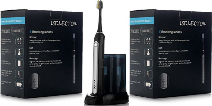 iselector-rechargeable-sonic-electric-toothbrush-with-uv-sanitizer-4-replacement-brush-heads-with-tongue-brush-on-back