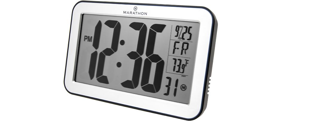 MARATHON CL030033SV Top Most Popular Selling Atomic Wall Clocks in 2018