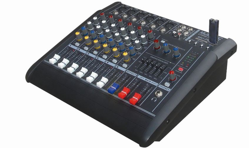 Musysic 6 Channel 2000 Watts Professional Power Mixer Top Most Popular Selling Audio Mixers in 2018