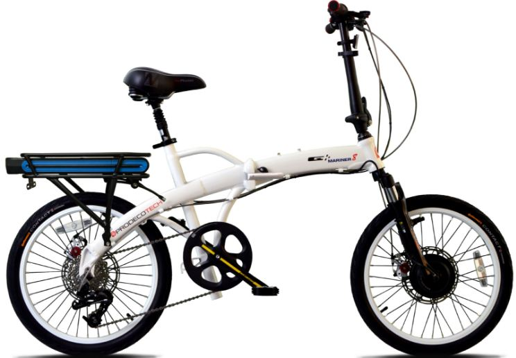 ProdecoTech v4.0 Mariner 8 36V 300W 8 Speed Folding 9Ah Li Ion Electric Bicycle
