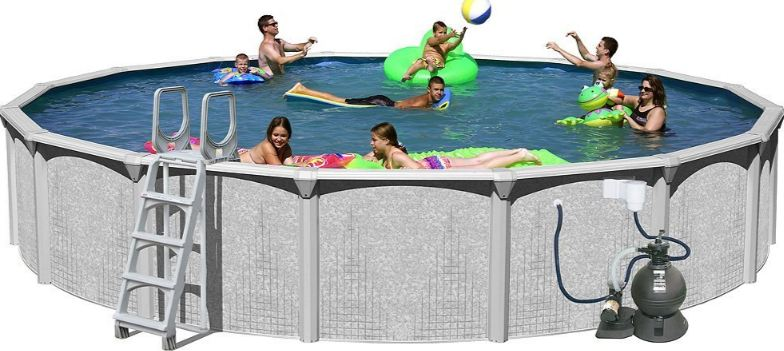 Splash Pools Round Deluxe Pool Package Top 10 Best Selling Above Ground Swimming Pools